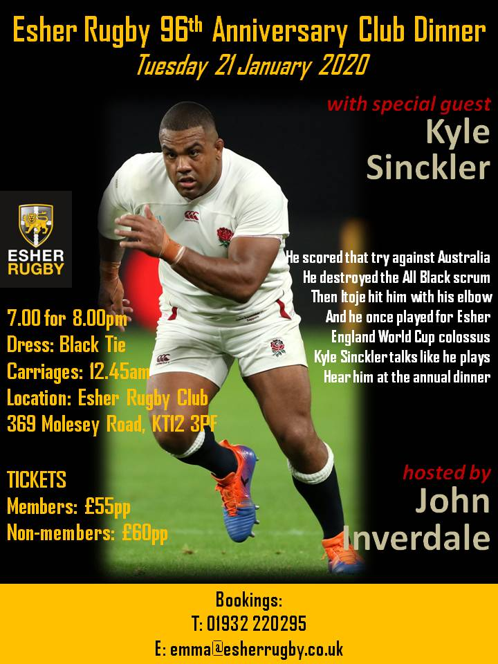 96th Anniversary Club Dinner with Kyle Sinckler