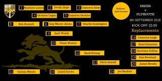 The Esher 1st XV to face Plymouth Albion.