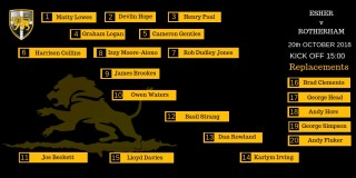 Esher vs Rotherham Match Line-up