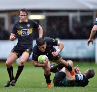 Match Report - Sale vs Esher December 1st 2018, courtesy of Sale FC, photographic credit to Leo Wilkinson                                                  Final Score : Sale FC 38 Esher 44