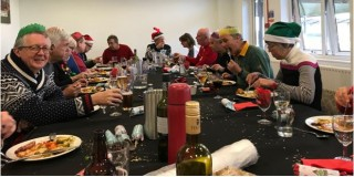 Walking Rugby Members enjoying their Christmas Lunch