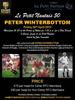 LPN50 with Guest Speaker Peter Winterbottom