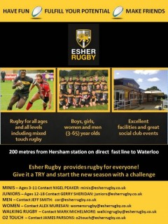 Esher Rugby  provides rugby for everyone!