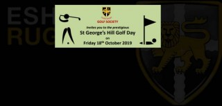 Esher Rugby Golf Society Golf Day at St George's Hill Golf Course - Friday 18th October 2019