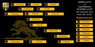Cardinals Line-up to face Canterbury Pilgrims 2nd XV - Saturday 28th September