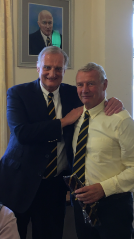 '50' Year Ties presented by Ross Howard, President at 47th Non-players Lunch on 19th October