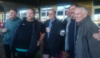 Esher Walking Rugby Group raise money for the Movember charity