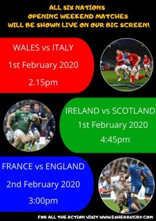 Live on the BIG screen - Six Nations opening weekend
