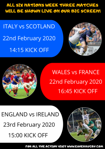 6 Nations week 3 LIVE on the BIG SCREEN