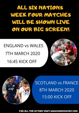 6 Nations week 4 LIVE on the BIG SCREEN