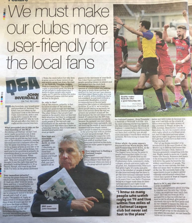 New NCA Chairman John Inverdale: We want to broaden the appeal of the National Leagues