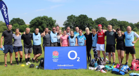 02 Touch Rugby is back! Saturday 15th August 10.00 a.m.