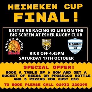 Special bar deal for Heineken Cup Final
