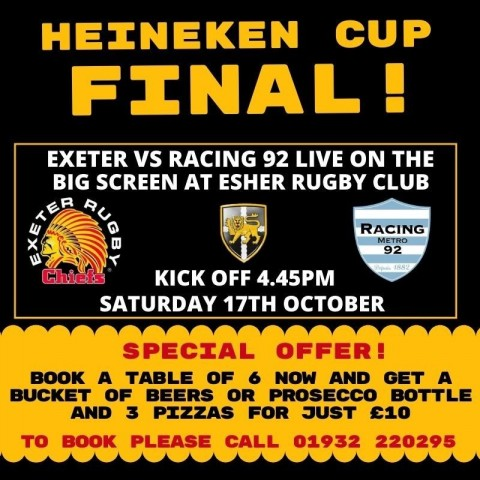 Special bar deal for Heineken Cup Final