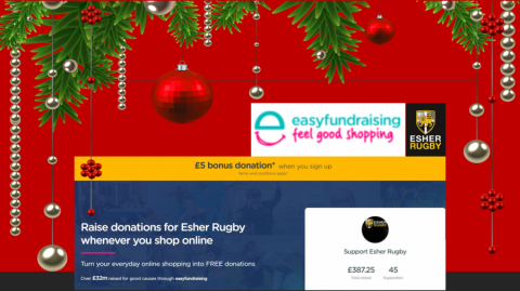 Will you do your Christmas shopping online this year? If so then here's a way you can help raise funds for Esher Rugby Club at NO COST to you and it's easy!