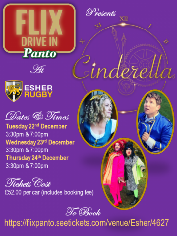 FLIX DRIVE IN Panto comes to Esher Rugby this December