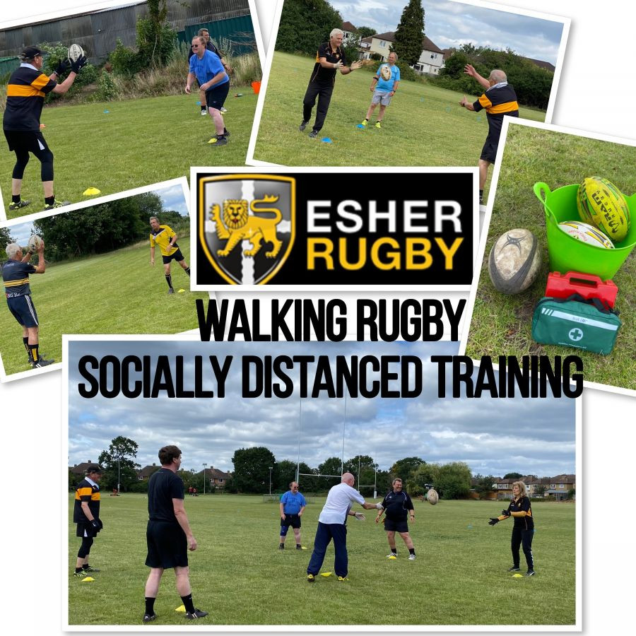 So what's happening with Esher's Walking Rugby group during lockdown?