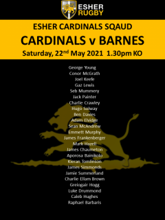 Esher Cardinals squad to face Barnes